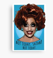 76c728afa Bianca Del Rio - Not Today Satan Canvas Print