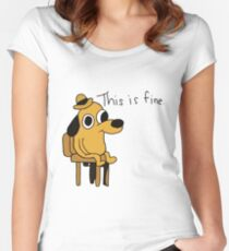 This is Fine Women's Fitted Scoop T-Shirt