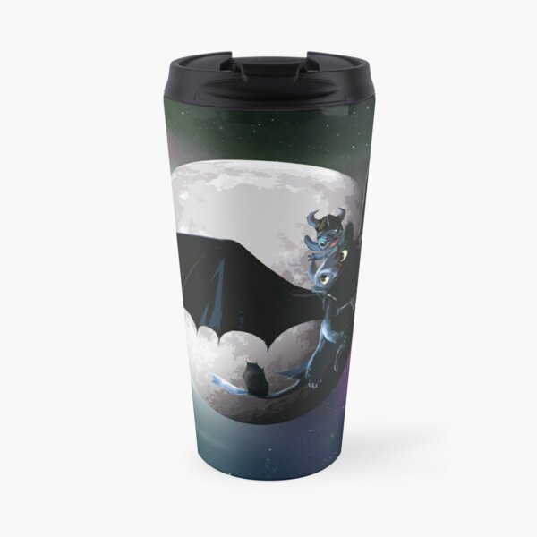 Stich and toothless Travel Mug