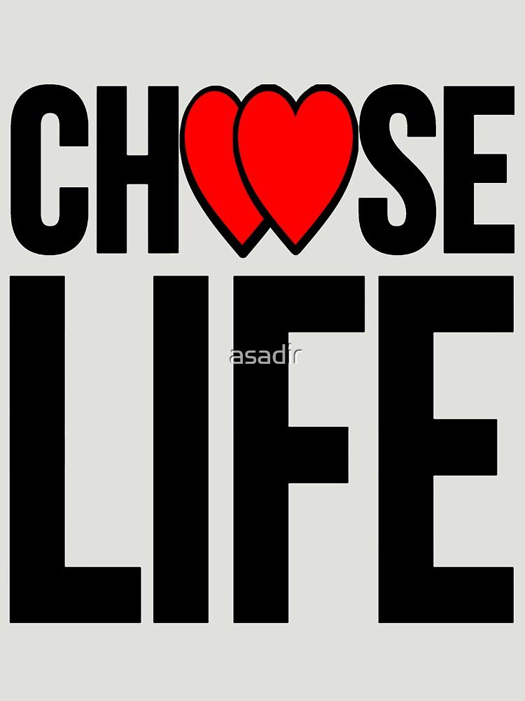 choose life black heart by asadir