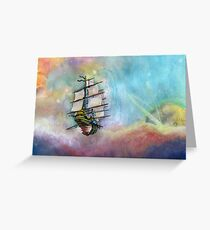 Mike's Tall Ship Greeting Card