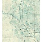 Colorado Springs Map Blue Vintage by HubertRoguski