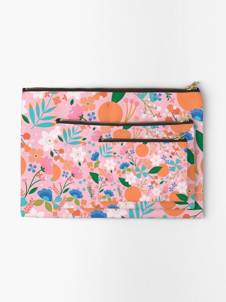 Alternate view of Orange Blossom  Zipper Pouch