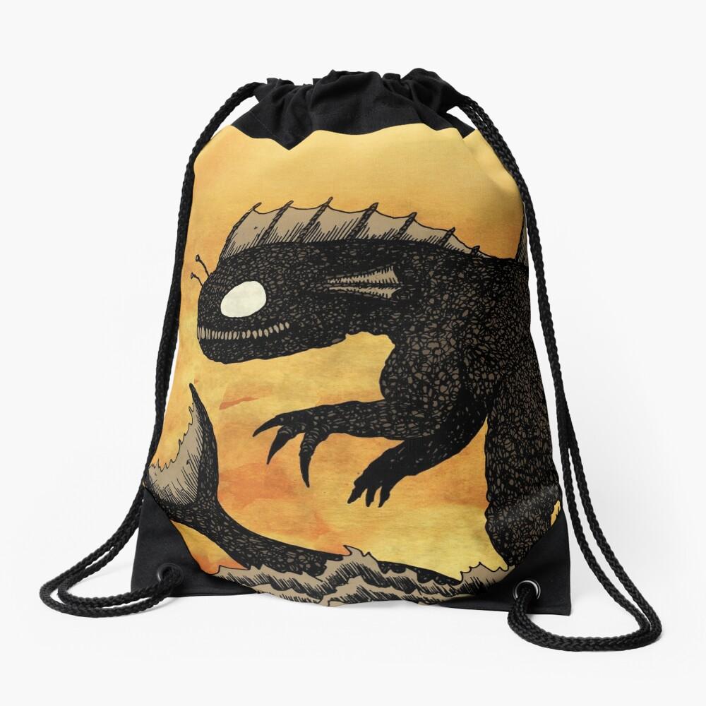 Sea Monster & Boat Drawstring Bag