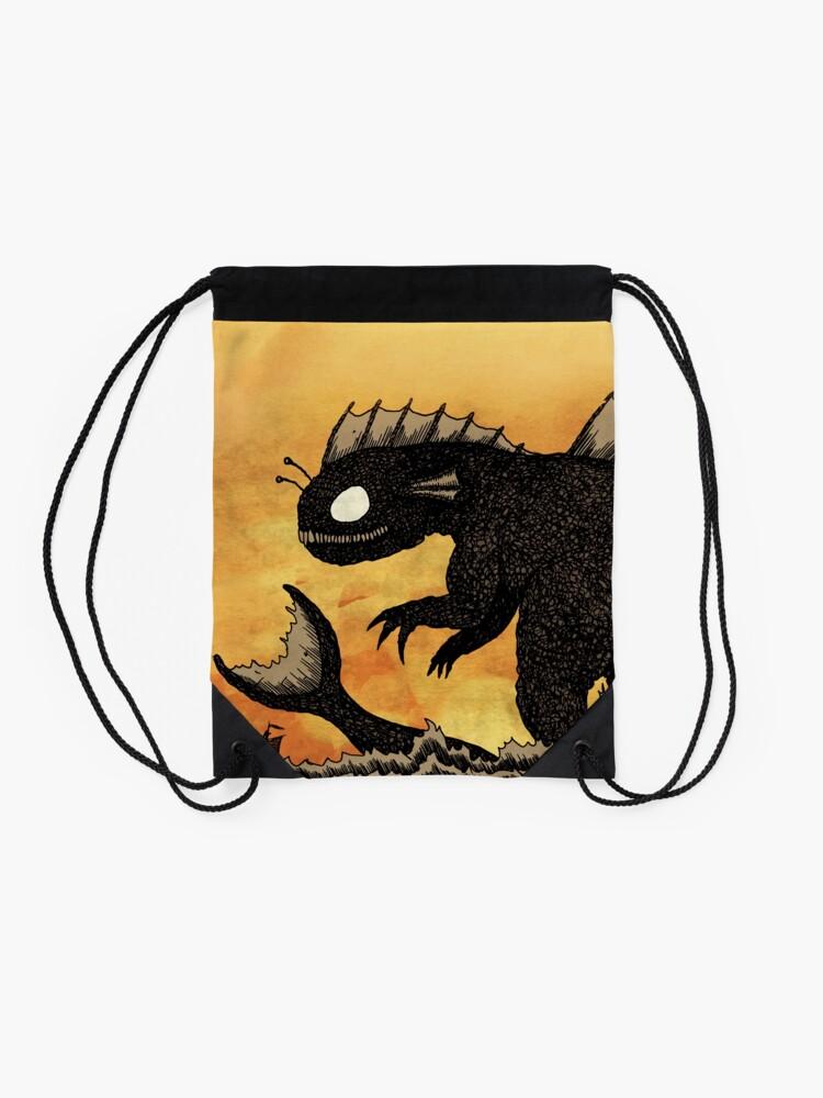 Alternate view of Sea Monster & Boat Drawstring Bag