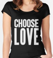 choose love white Women's Fitted Scoop T-Shirt