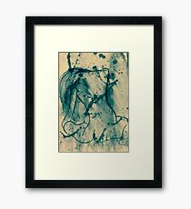 Splash Of Ink Framed Print