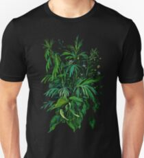 """Green & Black"", summer greenery, floral art, pastel drawing Unisex T-Shirt"