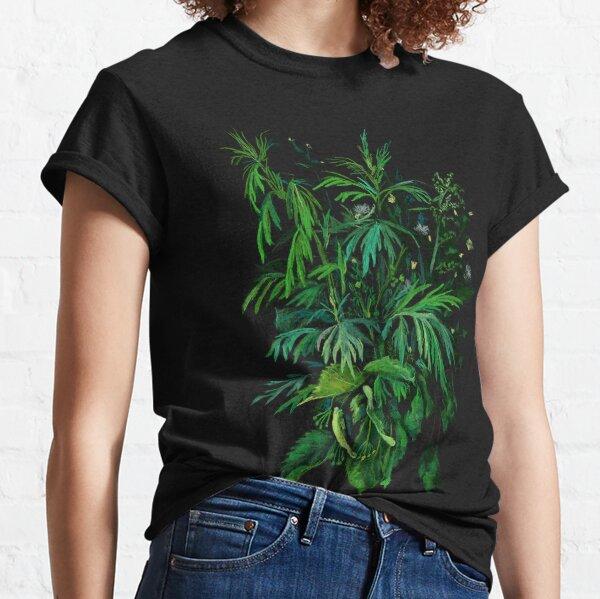 Grün und Schwarz, Sommergrün, Blumenkunst, Pastellmalerei, Impressionismus, Classic T-Shirt