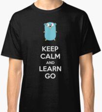 Keep calm and Learn Go - Dark edition Classic T-Shirt