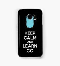 Keep calm and Learn Go - Dark edition Samsung Galaxy Case/Skin