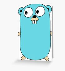 Golang Gopher Greeting Card