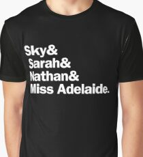 Guys and Dolls Characters | White Graphic T-Shirt