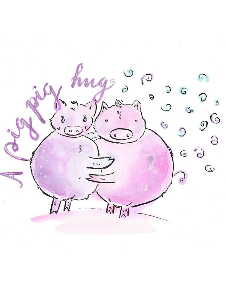 A pig pig hug! by yanak
