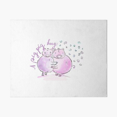A pig pig hug! Art Board Print