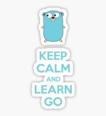 Keep calm and Learn Go - Light edition Sticker