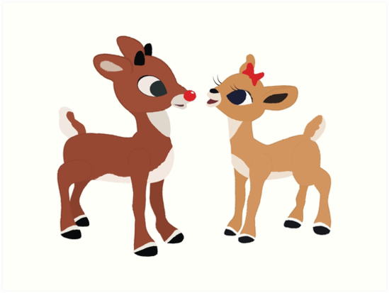 """""""Classic Rudolph and Clarice"""" Art Prints by ..."""