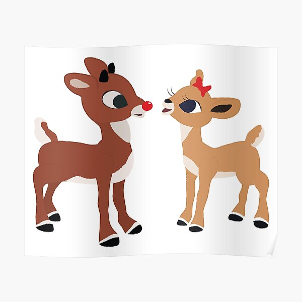 Classic Rudolph and Clarice Poster