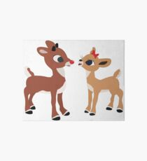 Classic Rudolph and Clarice Art Board