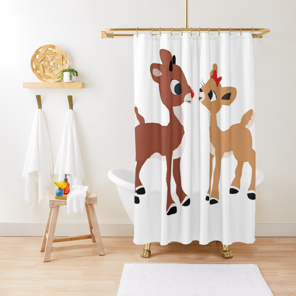 Classic Rudolph and Clarice Shower Curtain