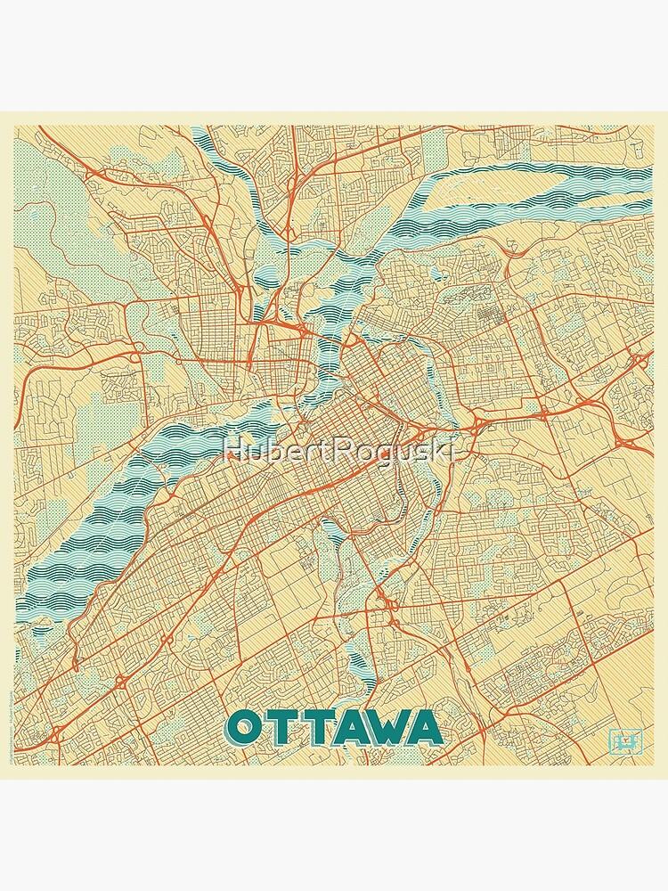 Ottawa Map Retro by HubertRoguski