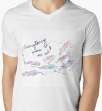 Everything's gonna be all-rat! V-Neck T-Shirt