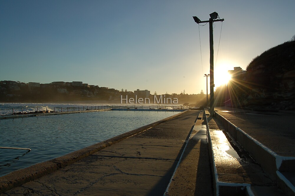 Sunset on Freshwater Pool by Helen Mina