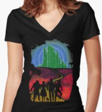 Yellow brick road Women's Fitted V-Neck T-Shirt