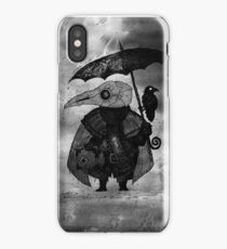 Plague Doctor & Crow in the Rain iPhone Case
