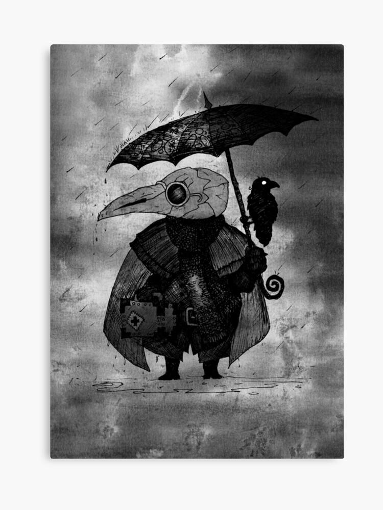 23fc8d0a29e0e Plague Doctor & Crow in the Rain