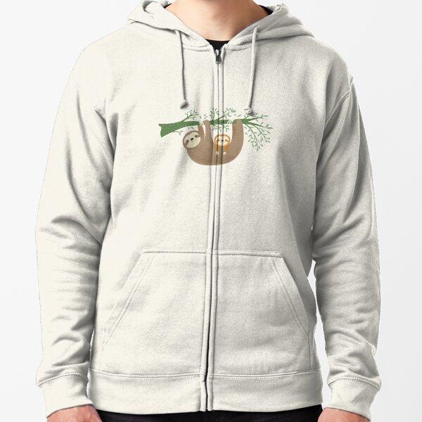Sloths Zipped Hoodie