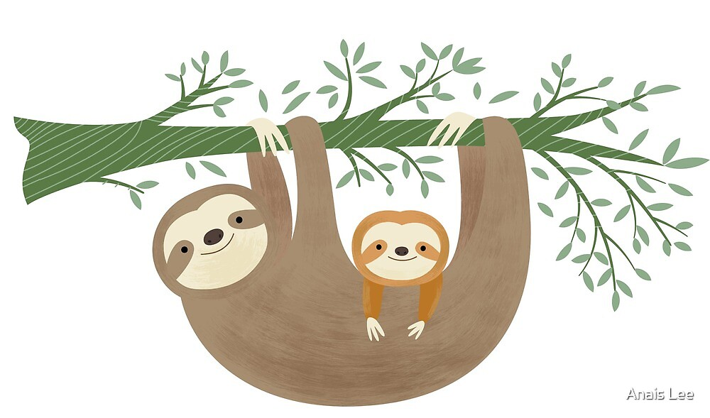 Sloths by Anais Lee