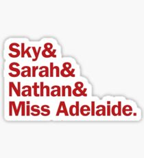 Guys and Dolls Characters   Red Sticker