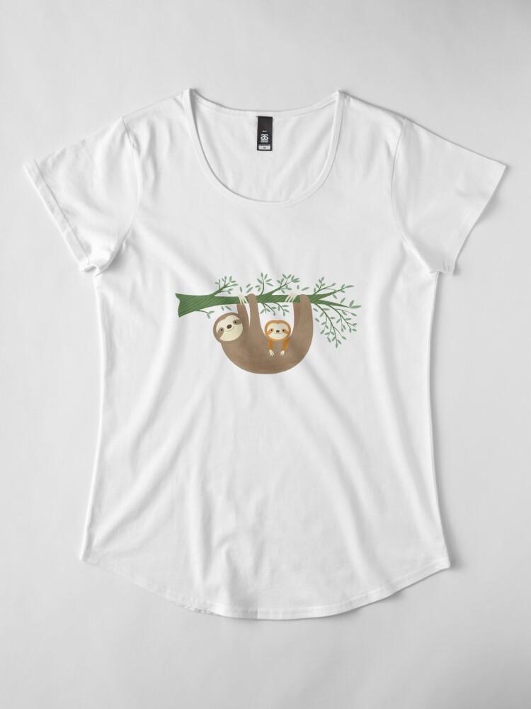 Alternate view of Sloths Premium Scoop T-Shirt