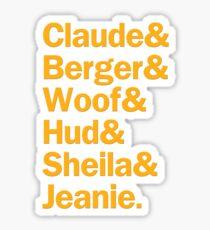 Hair Characters | Orange Sticker
