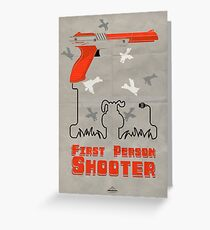 FPS, First Person Shooter Greeting Card