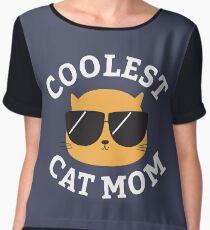 Coolest Cat Mom Chiffon Top