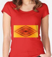 Pattern orange yellow black  Women's Fitted Scoop T-Shirt