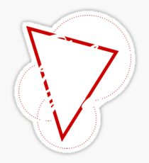 Ping Pong Yoga Triangle Composition Sticker