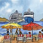 Huatulco Dock by Randy Sprout