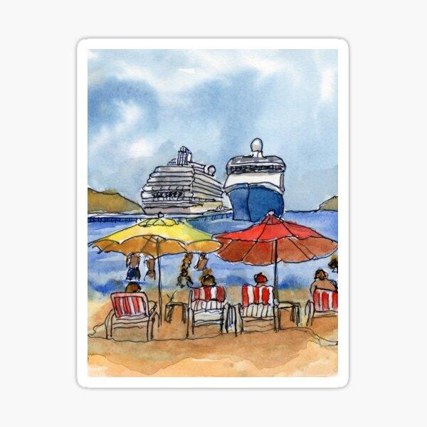 Huatulco Dock Sticker