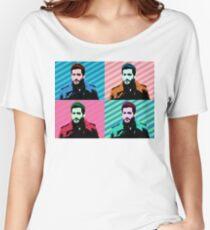 Jake Gyllenhaal Pop Art Women's Relaxed Fit T-Shirt