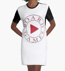 Play Board Games Graphic T-Shirt Dress