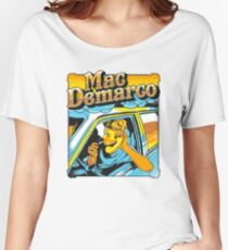 mac demarco in his car Women's Relaxed Fit T-Shirt