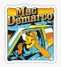 mac demarco in his car Sticker