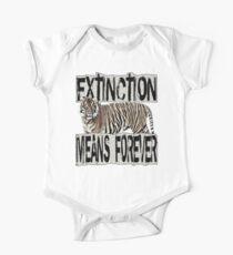 TIGER EXTINCTION MEANS FOREVER Kids Clothes