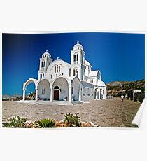 CHURCH OF AGHIOS ARSENIOS, PAROS,GREECE Poster