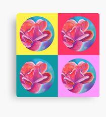 flower. pastel Canvas Print