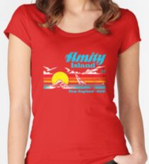 Jaws - Amity Island Women's Fitted Scoop T-Shirt