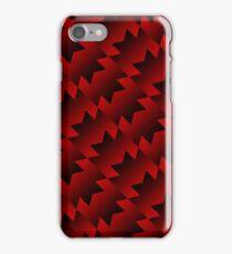 Retro Adidas Pattern [Red & Black] iPhone Case/Skin